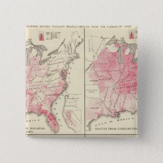United States vitalitetkartor Standard Kanpp Fyrkantig 5.1 Cm