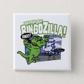 Universiteten av bingoen BingoZIlla knäppas Standard Kanpp Fyrkantig 5.1 Cm