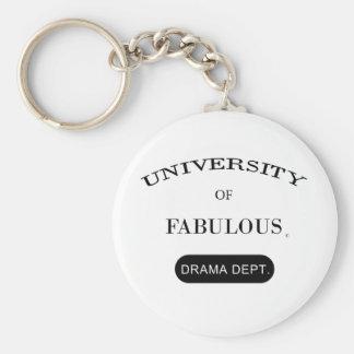 Universiteten av sagolikt (dramadept.en) rund nyckelring
