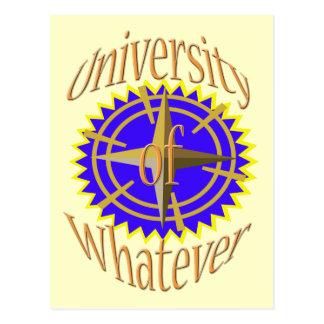 Universiteten av spelar ingen roll vykort