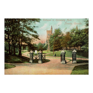 Universiteten parkerar, Toronto Kanada vintage Poster