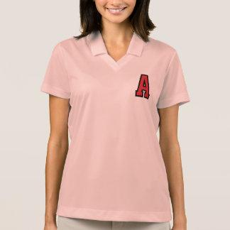 Universitets- brev för sport | en | röd svart polo tröja