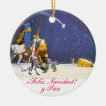 UNIVERSITETSLÄRARE QUIXOTE - Adorno de Navidad Rund Julgransprydnad I Keramik