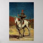Universitetslärare Quixote, c.1865-1870 Poster