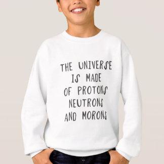 Universum göras av protons, neutrons och moro t shirt
