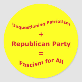 Unquestioning patriotism runt klistermärke