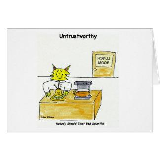Untrustworthy: Dåligaforskarekort Hälsningskort