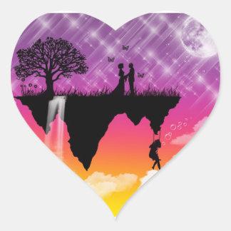 Uplifting fridsamma platser! hjärtformat klistermärke