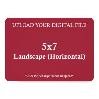 Upload din egna design 5 x 7 med rundakanter 12,7 x 17,8 cm inbjudningskort