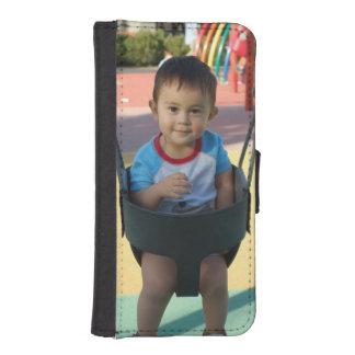 Upload ditt beställnings- plånbokfodral för fotoet plånboksskydd för iPhone 5