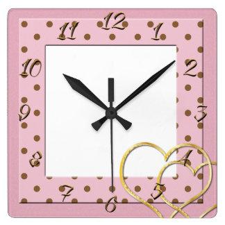 Upload ditt foto fyrkantig klocka