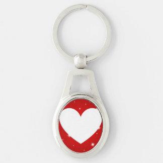 Upload ditt foto ovalt silverfärgad nyckelring
