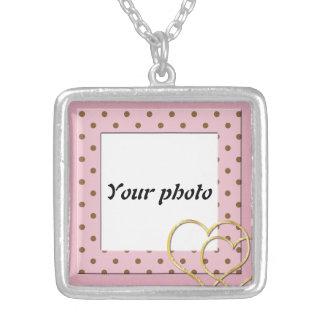 Upload ditt foto silverpläterat halsband