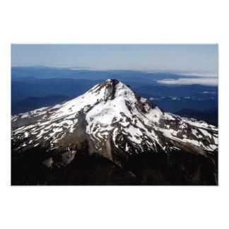 Upp CloseAreial beskåda av ett härligt berg Fototryck