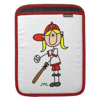 Upp på gåvor för baseball för fladdermössflickasti iPad sleeve
