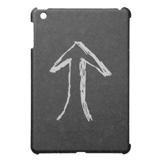 Upp pil. Grått iPad Mini Mobil Fodral