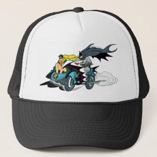 Uppassare och Robin i Batcycle Truckerkeps