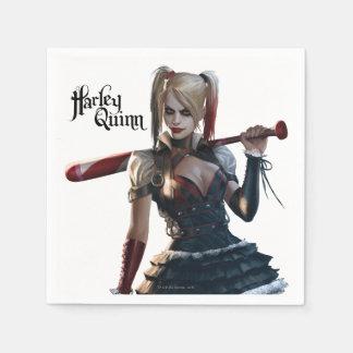 UppassareArkham riddare | Harley Quinn med Pappersservetter