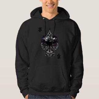 Uppassareöverdängare av den gotiska vapenskölden hoodie