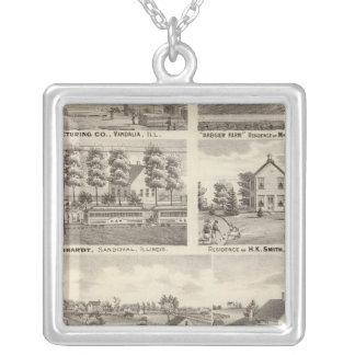 Uppehåll, lantgårdar och fabrik, Vandalia, Sandova Silverpläterat Halsband