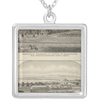 Uppehåll, lantgårdar och hästar av Kansas Silverpläterat Halsband