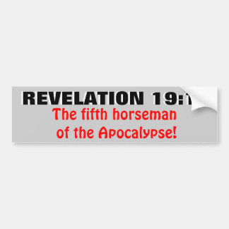 Uppenbarelse19:11 den femte skicklig ryttare! bildekal