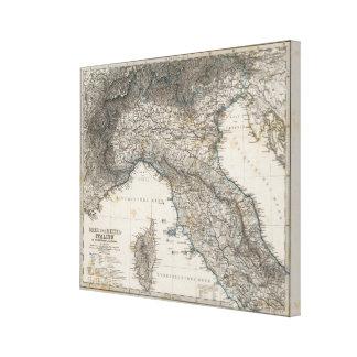 Upper- och centralitalien canvastryck