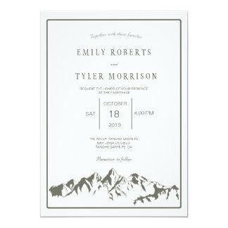 Uppfriskande inbjudan för bröllop för
