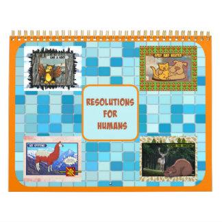 Upplösningar för människakalendern (medelformatet) kalender