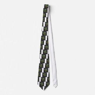 Upplyst grafiska konstnärliga designhusdjur för slips