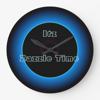 "Upplyst ""Itz Zazzle Time"" text>Wall tar tid på Stor Klocka"