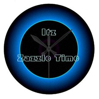 """Upplyst """"Itz Zazzle Time"""" text>Wall tar tid på Stor Klocka"""