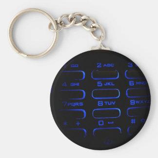 upplyst mobilt tangentbord rund nyckelring