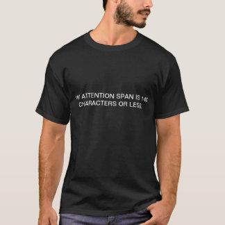 uppmärksamhet för 140 tecken spänner över t-shirts