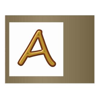 Uppmuntra utmärkthet: Den guld- AAA-utmärkelsen Vykort