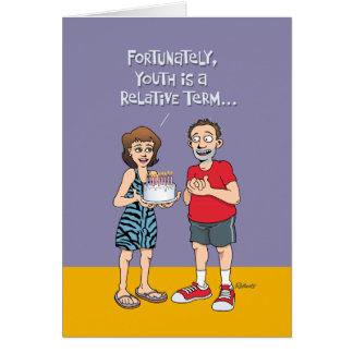Uppnosig 53rd födelsedag hälsningskort