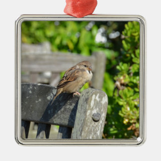 Uppnosig Sparrow Julgransprydnad Metall