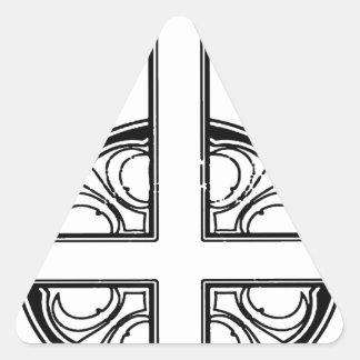 Uppochnervänt argt mönster triangelformat klistermärke