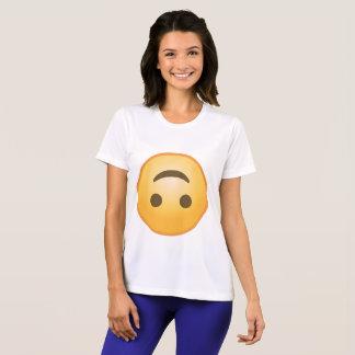 Uppochnervänt leende Emoji T-shirts