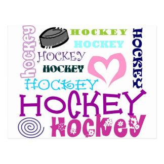 Upprepa för hockey vykort