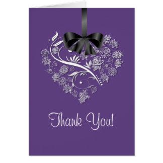 Uppriktigt tackkort - plommon OBS kort