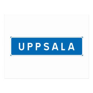 Uppsala svenskt vägmärke vykort