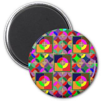 UPPSÄTTA SOM MÅL övar grafiska färgrika KONSTgåvor Magnet Rund 5.7 Cm