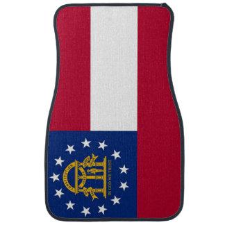 Uppsättning av bilmats med flagga av Georgia, USA Bilmatta