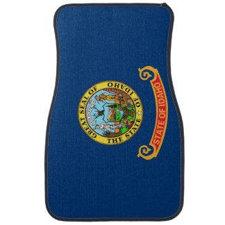 Uppsättning av bilmats med flagga av Idaho, USA Bilmatta