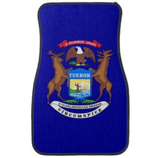 Uppsättning av bilmats med flagga av Michigan, USA Bilmatta
