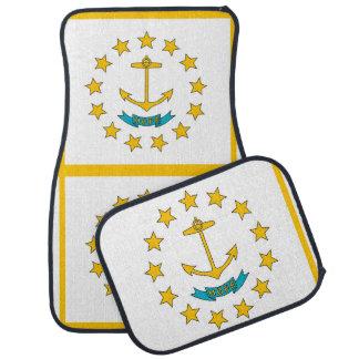 Uppsättning av bilmats med flagga av Rhode - ö, Bilmatta