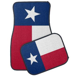 Uppsättning av bilmats med flagga av Texas, USA Bilmatta