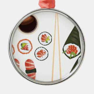 Uppsättning av Sushi2 Julgransprydnad Metall