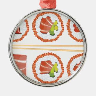 Uppsättning av Sushi Julgransprydnad Metall